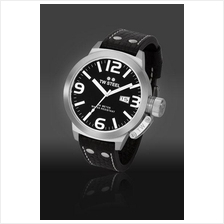 TW Steel TW22 Canteen 50mm Date Mineral Quartz 100M Leather Black