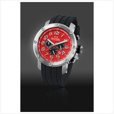 TW Steel TW125 Grandeur Tech 48mm Chrono Mineral Quartz 100M Resin Red