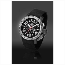TW Steel TW43 Grandeur 48mm Chrono Mineral Quartz 100M Resin Black