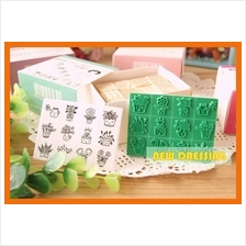 Korean 'Assorted Mini Wooden Rubber Stamp' Zakka/Diary/Photobook DIY