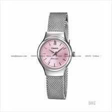 CASIO LTP-1362D-4A STANDARD Analog studs SS meshed bracelet pink