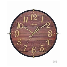 CASIO IQ-81-5B analog wall clock sweep smooth second wooden printed