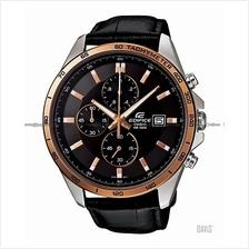 CASIO EFR-512L-1AV EDIFICE chronograph date leather strap black