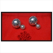 Fashion Pearl With Multiple Stars Design Earrings