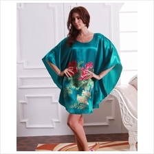 Appealing Butterfly-Shape Dress Pyjamas With Turquoise  & Flowery Design