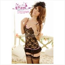 Sexy Flowers Lace Bustier Set With Matching G-String