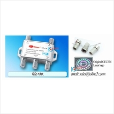 DiSEqC 2.0 Satellite LNB Switch 4 in 1 Gecen GD-41A Free 3*F Connector for Rec