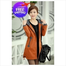 Korean Women Lady Hooded Long Sleeve Slim Fit Winter Jacket Coat