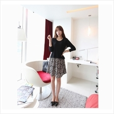 Fashion Two-Piece Joint Retro Design Loose Dress