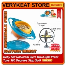 Baby Kid Universal Gyro Bowl Spill Proof Toys 360 Degrees Stop Spill