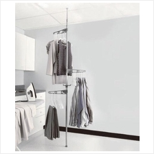 Adjustable Tension Mounted Clothes Indoor Room Drying / Organizer Rack