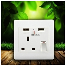 2.1A Export Standard Dual USB 86 Type Wall Socket Face Plat  Charger
