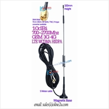 10dBi 3G 4G LTE GSM Omni outdoor Antenna 5m cable SMA CRC9 TS9 HSPA+ Angled L