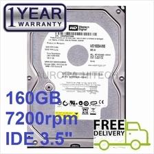 "160GB WD IDE PATA 3.5 inch PC Desktop Hard Disk Hardisk 3.5"" Drive HDD"
