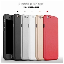 IPHONE 4 4S 5 5S SE 6 6S PLUS 360 FULL Protection Tempered Glass Case