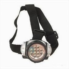 Mini Head Lamp Torch Headlight Flashlight (silver/Black) 12LED