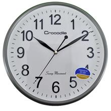 Crocodile 12 INCH Metallic Silver Wall Clock CW 802 W4