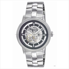 Kenneth Cole NEW YORK KC3925 (M) auto skeleton SS bracelet silver