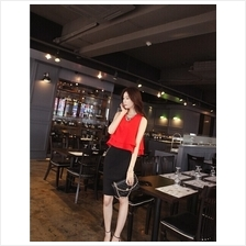 Trendy Double Layered Sleeveless Chiffon Top