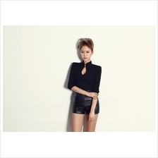 Trendy High Neck Lady Slim Top