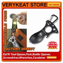 Eat'N Tool-Spoon,Fork,Bottle Opener,Screwdriver,Wrenches,Carabiner