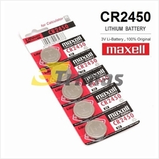5PCS CR2450 GENUINE Maxell Japan Coin Cell Pass 2450 Lithium Battery 3V