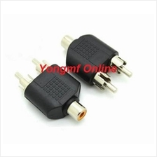 RCA Female to 2 RCA Male Y Splitter Audio Adapter (CP-C-181)