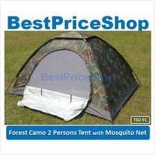 Camo Lightweight 2 Persons Army Camping Outdoor Tent w Monsquito Net