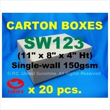 "SW123 Small CARTON BOX x 20pcs. 11"" x 8"" x 4"" Ht Courier Shipping Pack"