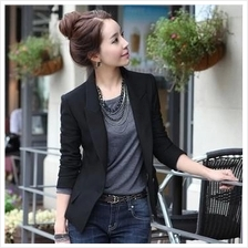 T007004 Koreans Long Sleeved One Buttons Slim Fit Womens Suit Jacket