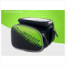 """59. B-Soul bicycle front pouch with 5.5"""" touchable smartphone pocket"""
