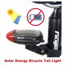 Solar Power Rechargeable LED Cycling Bike Bicycle Tail Lamp Light