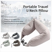 MUJI Inspired Well Fitted (Microbead) Travel Neck Pillow Cushion