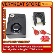 Gallop JX612 Bike Bicycle Vibration Security Alarm Burglar 110DB Alarm