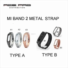XIAOMI Mi Band Metal Leather Strap for Mi Band 2 OLED, Pulse 1S, 1A