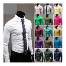 T009439 Korean Men´s Casual Fashion Solid Candy Stylish Colored Shirt