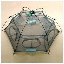 New Folded 80x80cm Floding Crab fish Minnow Fishing Trap Cast Net