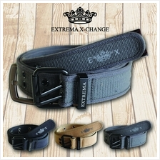 EXTREMA BIG  & TALL Full Rivet Canvas belt EB16 (Black)