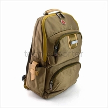 "SWISSGEAR 14"" Laptop Backpack Bag Golden Brown"