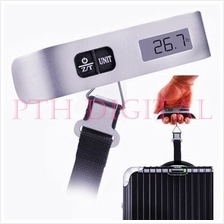 Portable LCD Digital Baggage Luggage Travel Weighing Strap Scale 50kg