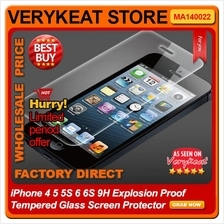 iPhone 4 5 5S 6 6S 9H Explosion Proof Tempered Glass Screen Protector