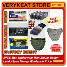 3PCS Men Underwear Man Seluar Dalam Lelaki-Save Money Wholesale Price