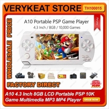 A10 4.3 Inch 8GB LCD Portable PSP 10K Game Multimedia MP3 MP4 Player