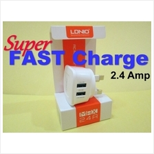 Fast Charger 2.4A Dual USB Port - Travel fast charge (3-pin) LDNIO
