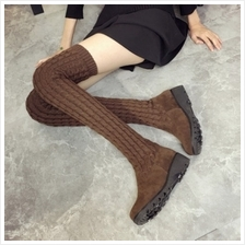 MT009561 Flat Wool Long Boots