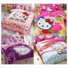 Bedsheet Hello Kitty suitable single bed with quilt cover