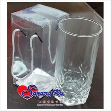 GLASSWARE DOOR GIFT GLASS EF2574 WITH PVC PLASTIC HANDLE BOX