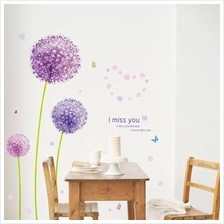 Purple Dandelion Decorative Wall Sticker