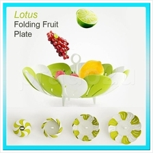 Lotus Folding Fruit Plate BPA Free Foldable Tray scs
