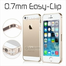 HTC One 2 M8 Apple iPhone SE 5S 5 4S 4 Aluminum Easy Clip Bumper Case